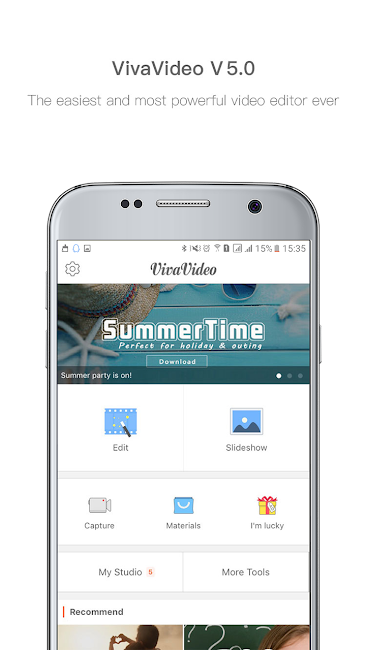 #1. VivaVideo: Free Video Editor (Android)