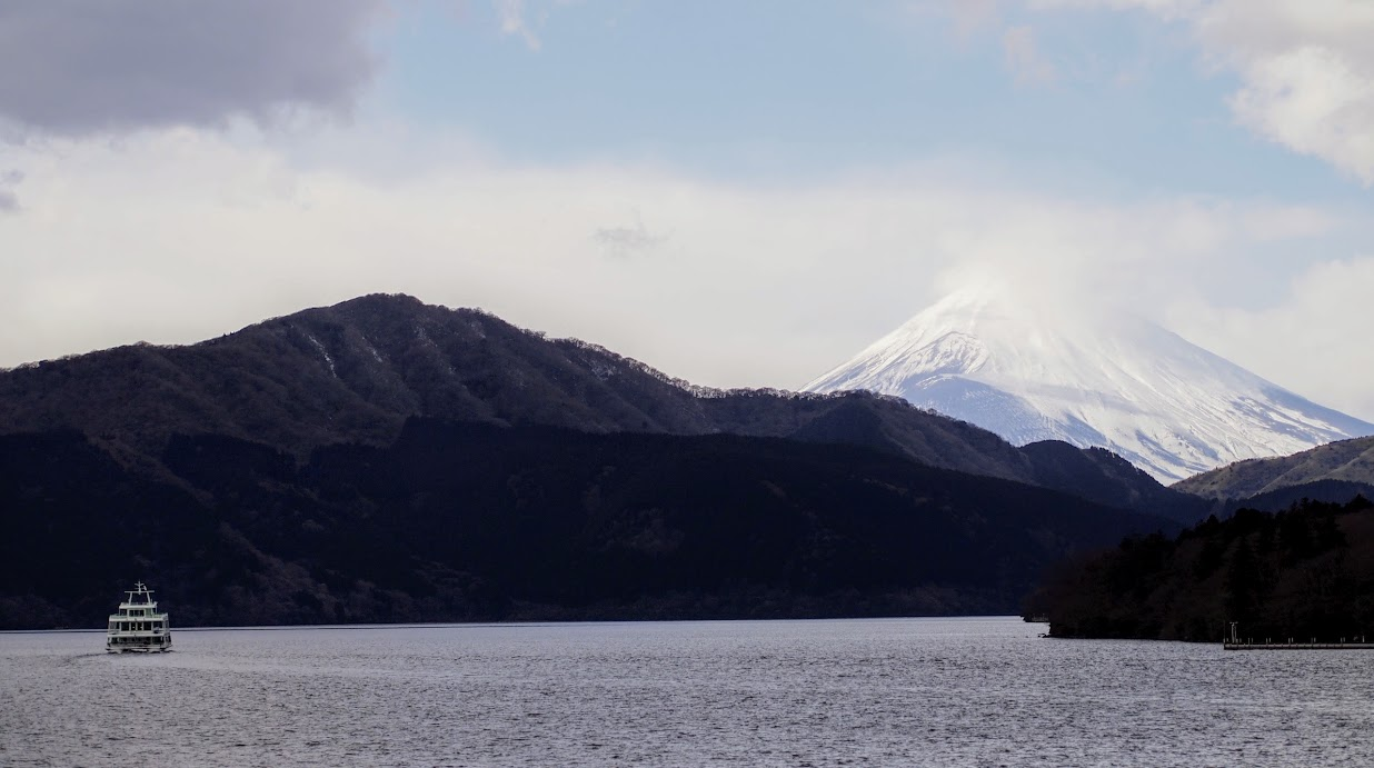Mt. Fuji over Lake Ashi in Hakone