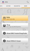 Screenshot of EMS Pocket Drug Guide TR