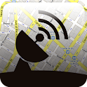GPS satellite navigation icon
