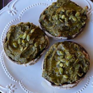Paleo Avocado & Herb Stuffed Mushrooms.