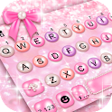 Girly Pink Pearl Keyboard Theme icon