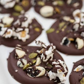 Sweet + Salty Dark Chocolate Clusters.