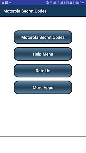 Secret Codes of Motorola 1.4 screenshots 2