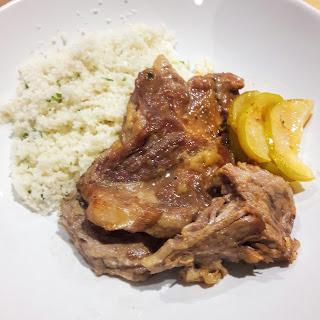Apple Braised Pork with Cauliflower Rice