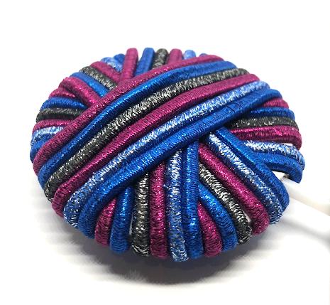 Lollipop hårsnodd blå/silver/lila