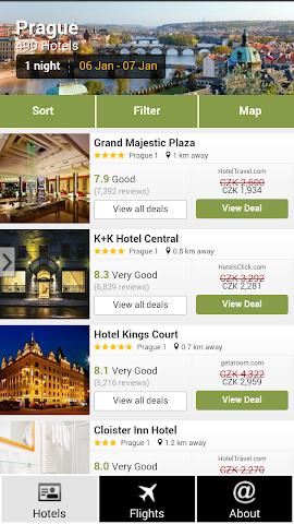 android Prague Hotels and Flights Screenshot 0