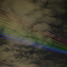 Rainbow  by S B - Abstract Light Painting ( clouds, lights, sky, london, laser, rainbow )