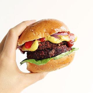 Smoky Black Bean Beet Burgers