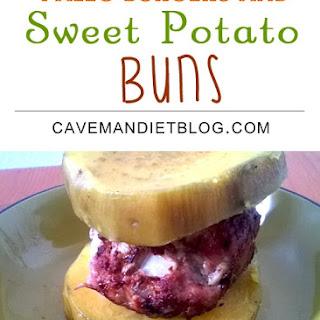 Homemade Paleo Burgers With Sweet Potato Buns