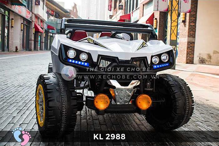 Xe ô tô điện đồ chơi trẻ em KL-2988 ghế da 3