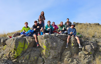 Photo: Some of the HHS Outdoors Club members in April 2015.