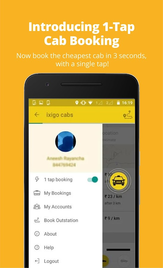 ixigo Cabs-Compare & Book Taxi- screenshot