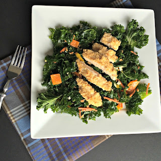 Crispy Chicken Kale Salad