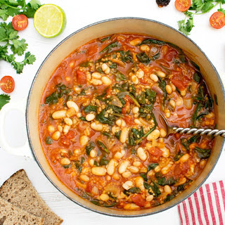 Spinach and Bean Chipotle Casserole [Vegan]