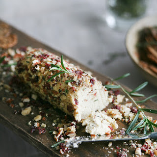 Cranberry Rosemary Nut Cheese Log