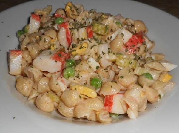 Saucy Seafood Macaroni Salad Recipe