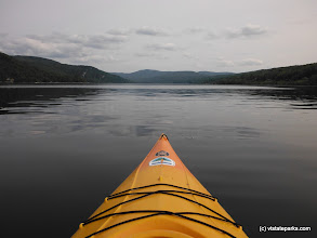 Photo: A kayak moves over the water, Crystal Lake State Park