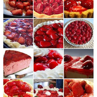 Strawberry Glaze Cheese Pie