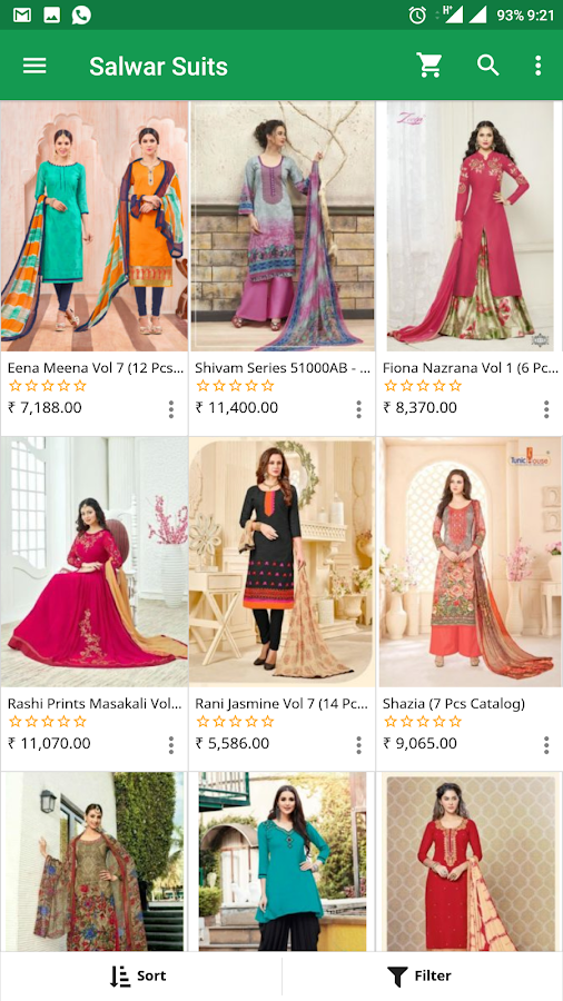 Wholesale Bazaar - Salwars Saree Kurti Lehengas- screenshot