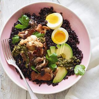 Black Rice and Roasted Mushroom Bowl.