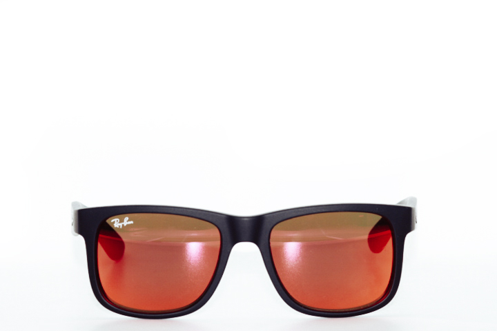 Ray Ban Justin Black Red Mirror