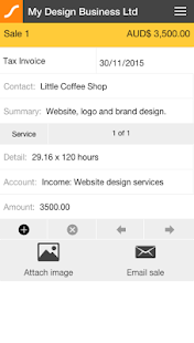 Saasu Online Accounting- screenshot thumbnail