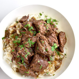 Stew Beef and Rice.