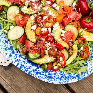 Summertime Watermelon and Avocado Salad.