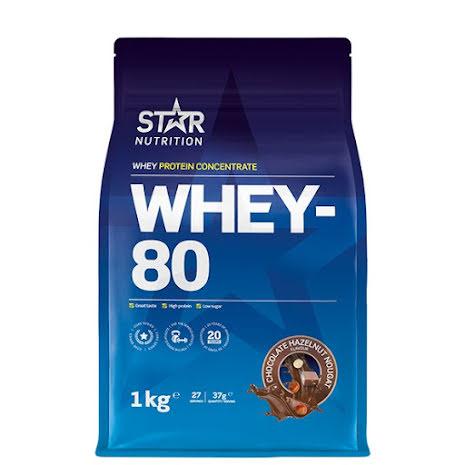 Star Nutrition Whey 80 1kg - Chocolate Hazelnut Nougat