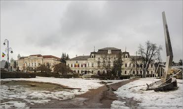 Photo: Turda - Piata 1 Decembrie 1918, Nr.28 - Primaria Municipiului , Nr.29, BCR, vedere Catedrala Ortodoxa - 2018.01.31