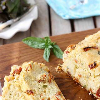 Caprese Olive Oil Bread with Sun-Dried Tomatoes, Bocconcini & Basil Recipe