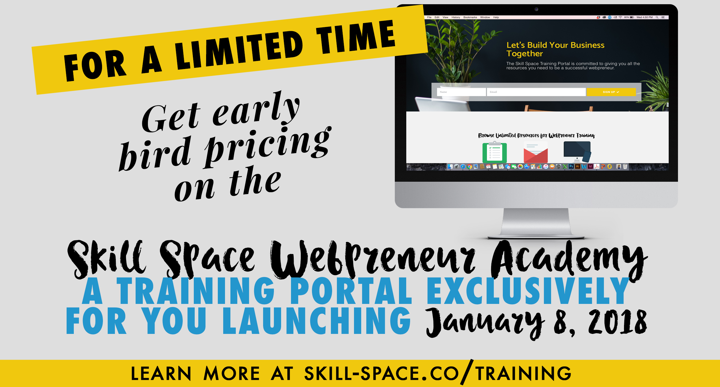 Click here to learn more about the Skill Space webpreneur academy