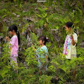 trio by Khairi Went - Babies & Children Children Candids ( playing, natural light, stock, nature, children, kids, natural, commercial )
