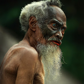 The Old Eagle by Mpe'- Indra Prameswara - People Portraits of Men ( senior citizen,  )