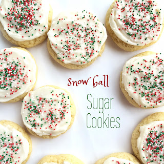 Snow Ball Sugar Cookies