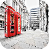 London phone booth Theme