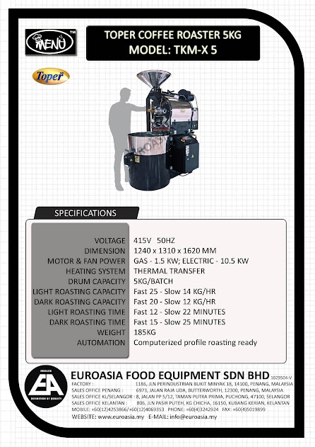 TOPER COFFEE ROASTER 5KG - EUROASIA   Our Products