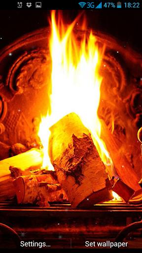 暖炉ライブ壁紙