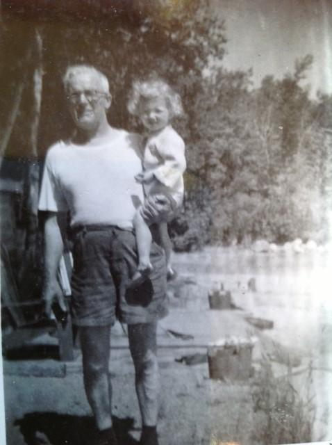 Pappy Metcalfe and Joanne 1957