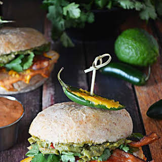 Tequila Lime Chicken Sandwiches with Guacamole and Chipotle Mayo.