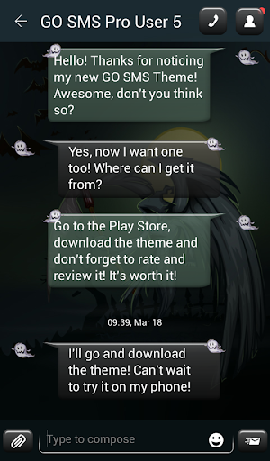 GO SMS Proのダークナイト