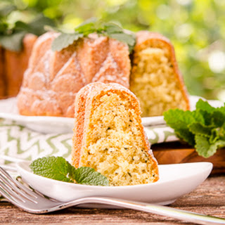 Lemon Balm Bundt Cake