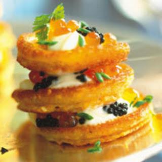 Cornmeal Blini with Caviar