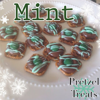 Chocolate Mint Pretzel Treats