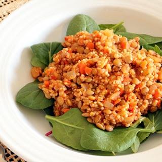 Lentils and Quinoa.