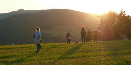 Photo: Zapadající slunce na osadou Čierne