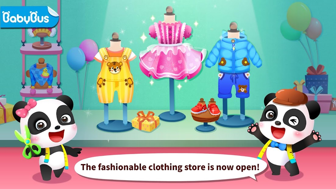 Baby Panda's Fashion Dress Up Game Android App Screenshot