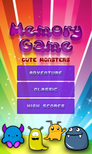 Memory Game: Cute monsters