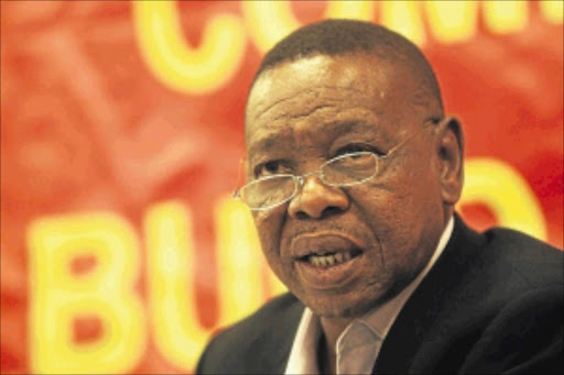 PAYBACK TIME: Education Minister Blade Nzimande says his department is engaging Sars to track down non- complying but working former NSFAS beneficiaries.  photo:  BUSINESS  DAY